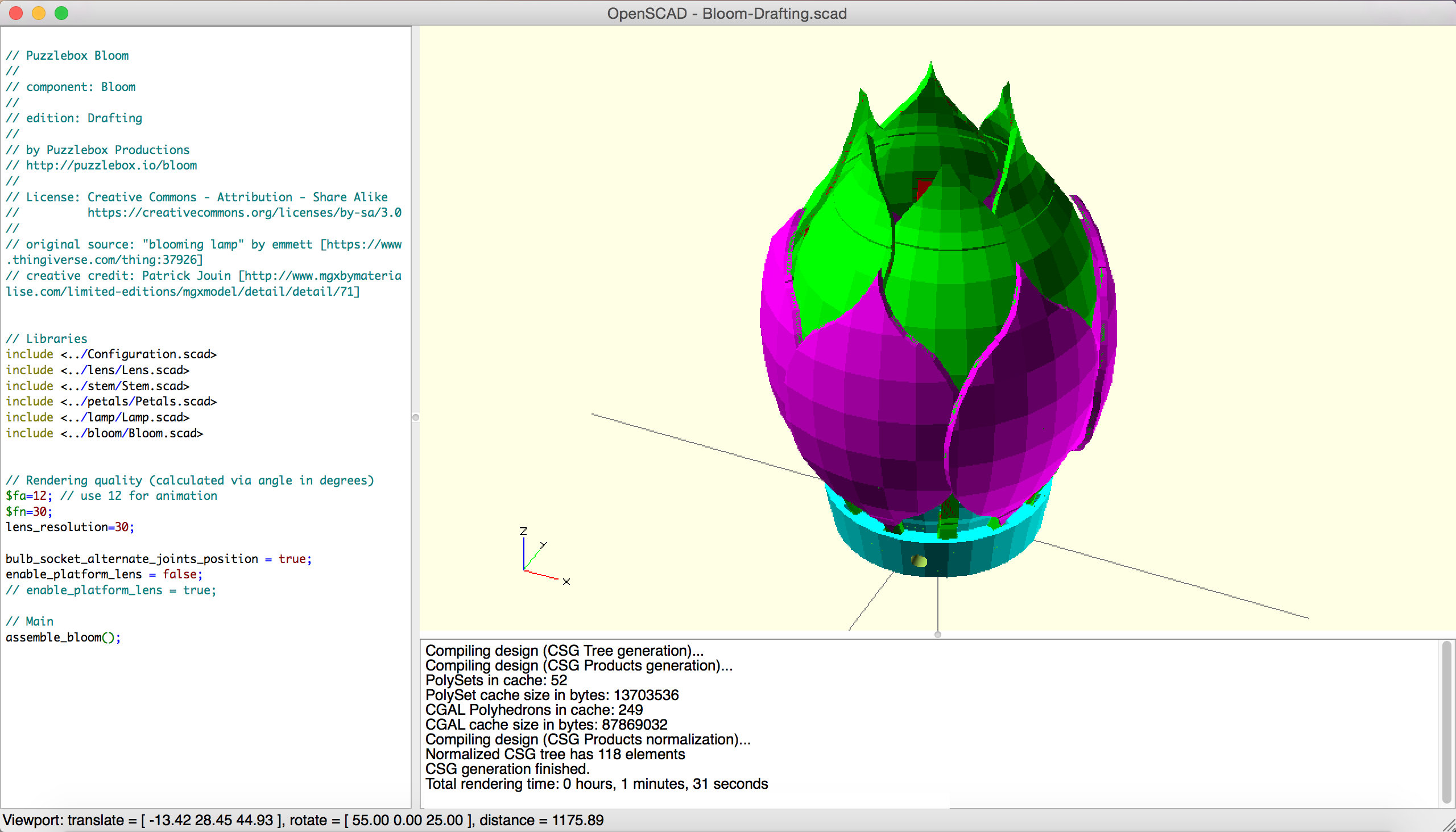 Bloom OpenSCAD